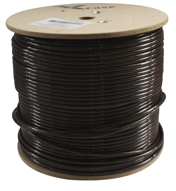 Bobina de cable ftp cat6 doble forro caf 305 metros - Cable electrico para exterior ...